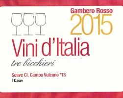 Soave Classico doc Campo Vulcano: Tre Bicchieri 2015