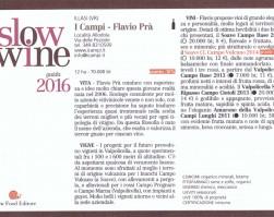 """Soave Classico doc Campo Vulcano 2014 : """"Grande Vino"""" Slow Wine!!!"""
