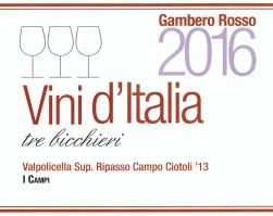 """Valpolicella Ripasso Superiore Campo Ciotoli 2013 : un rosso da """"Tre Bicchieri""""!!!"""